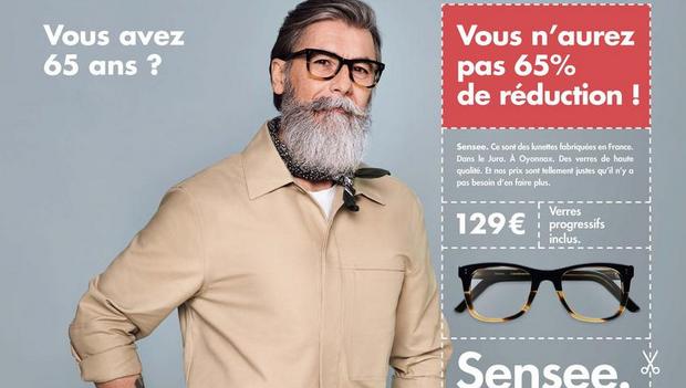 f7f8d17aea3eb Aujourd'hui se déploie la première campagne de pub Sensee, depuis que le  concept a été repensé il y a dix huit mois. L'occasion pour l'enseigne  optique de ...